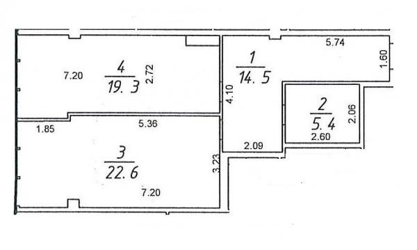Планировки однокомнатных квартир 63 м^2
